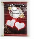 Printed Dark Red Sublimation Scroll, For Wedding, Anniversary, Size: 12x15 Inch