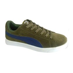 Daily wear Men Green Shoes, Packaging Type: Box