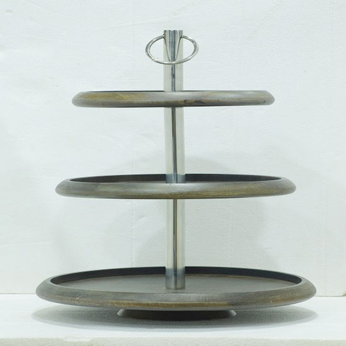 3 Tier Wooden Tray Cake Stand