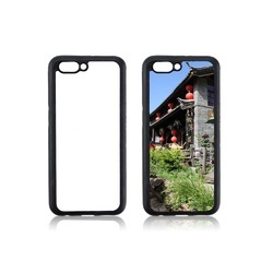 Plastic White And Black Sublimation 2d Mobile Cover For Oppo