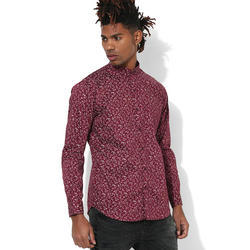 Printed Full Sleeve Men Casual Cotton Shirt