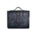 Leather Navy Blue Mens Office Bag