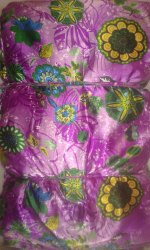 Stars Poly Satin Fabric, Multicolour