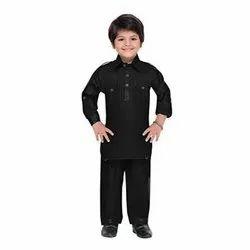 Binnai Black Kids Pathani Kurta Pajama