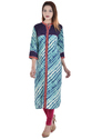 Printed Flex Patch Embroidery Kurti