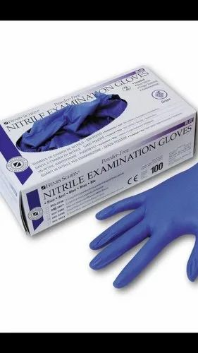 Blue Nitrile Examination Glove in delhi
