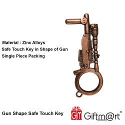Giftm@rt Metal GUN SHAPE NON CONTACT KEY TOOL, Packaging Type: Box