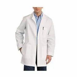 White Polyester Cotton Lab Coat, For Laboratory, Handwash