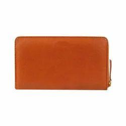 Brown Zip Wallet - Tan