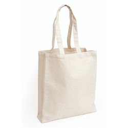 White Canvas Shopping Bag