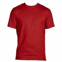 Red Plain Round Neck T Shirt