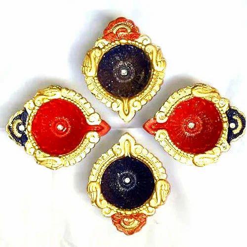 decorative diya at rs 50 pair sajavati diya सज वट