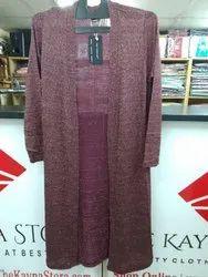 Lycra Party Wear Woolen Shrug Dress
