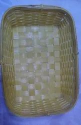 Pooja Craft Wood, Brown Bamboo Rectangle Basket