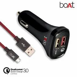 Car Charger Black Boat Qual Comm 3.0 Quick Charger, 5v, 12 V
