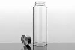 Glass Water Bottle, Capacity: 550 mL