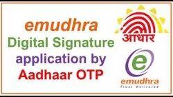 Electronic Newly Register e-Mudhra Class 3 - 3 Year, One Unit, Digital Signature Verification