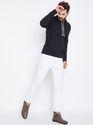 100% Cotton Men's Full Sleeves Hooded Grey Sweatshirt for Wholesale