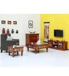 Wooden sheesham wood living room funiture set, For Home