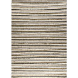 Striped Rectangular Manchester Natural Multi Handmade Designer Rugged Carpet, Handwoven