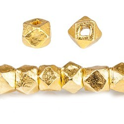 Gold Plated Sterling Silver Nugget Beads