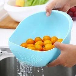 Rice-Vegetable Sieve Cum Colander for Soak Wash Rinse Drain Mix Serve Store - Large