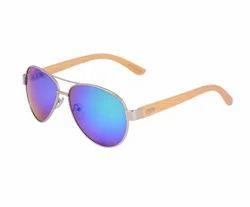 Bamboo Wood Aviator Sunglasses