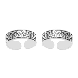 SHTR0037 925 Sterling Silver Oxidized Toe Ring