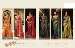 Apka Apna Fashion Georgette Ladies Stylish Saree, Length: 6.3 m