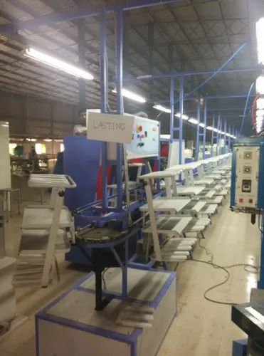 Mild Steel Electric Trolley Type Conveyor For Shoe Making, Automation Grade: Automatic
