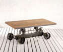 Rolling Science Crank Mechanism Coffee Table With Wheels