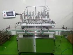 Automatic PLC/MHI Base High Speed Viscous Liquid Filling Machine 2 -8 Head :- Model- Alm-1000 H