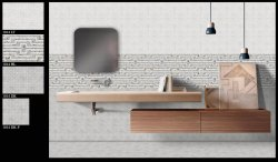 300x450 mm Glossy Ceramic Bathroom Wall Tiles