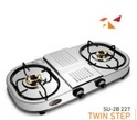 Double Burner Gas Stove SU 2B-227 TWIN STEP