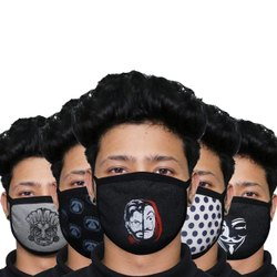 Oriley 3 Ply Cotton Face Mask Washable Reusable Breathable Protective Nose Mouth Cover (1 Pc)