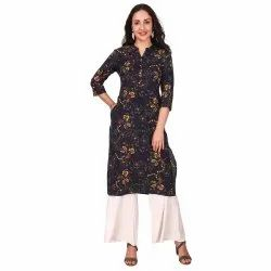 Cotton Printed Straight Kurta For Women And Girls