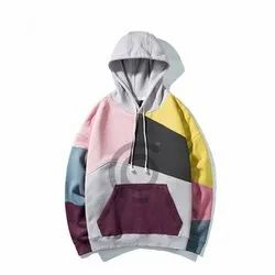 Cotton Fleece Or Custom Color Blocking Hoodie
