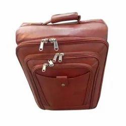 棕色皮革旅行袋