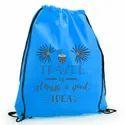 Polyester Promotional Drawstring Bags, Capacity: Custom