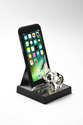 Silver-Plated Mobile Stand with Elephant