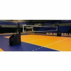 Indoor Wooden Volleyball Court Flooring Service, Thickness: 1 - 75 Mm