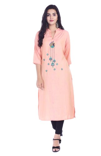 Handicraft-Palace Indian Emboidered Floral Pattern Kurta Tunic Kurti Ethnic Designer Top Jeans Wear
