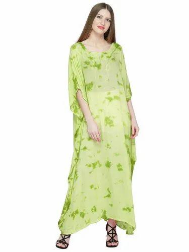 2732b7d1481 Skavij Womens Soft Beach Cover Up Embroidered Rayon Tie-Dye Long Kaftan  Maxi Dress (