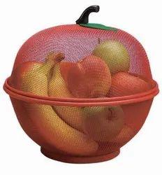 Metal Apple Shape Fruit Basket