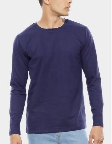 c7b22a982 Cotton Round Men's Party Wear Plain T Shirt, Rs 230 /piece | ID ...