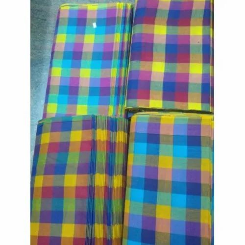 Dyed Cotton Check Fabric, GSM: 100-150 GSM, for Dress