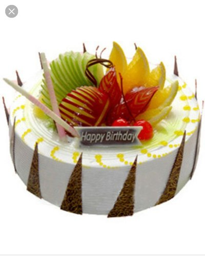 Awesome Fresh Fruits Cake At Rs 799 Kilogram Panda Personalised Birthday Cards Veneteletsinfo