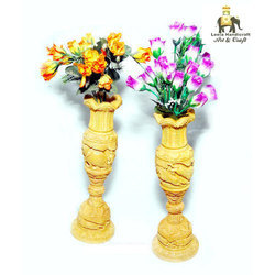 Decorative Wooden Flower Vase