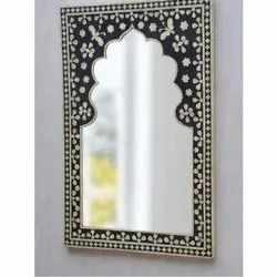 Fancy Glass Mirror for Home, Thickness: 5 mm