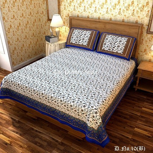 Jaipuri Cotton Double Bed Sheet